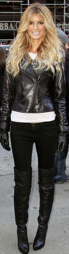 Marisa Miller - Biker style. Texas Hill Country :)