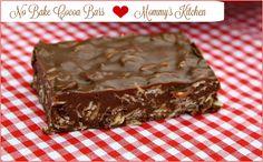 Mommy's Kitchen - Recipes From my Texas Kitchen: No Bake Cocoa Bars