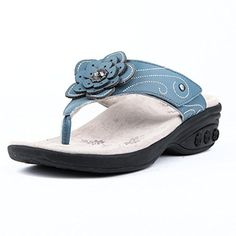 628fbf02409c Therafit foot support Leather Adjustable Sandal approved by the APMA.  Providing superior arch support