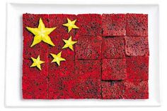 National flags made from foods: China