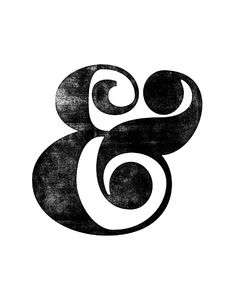 Ampersand Black and White Typography Print Art Print