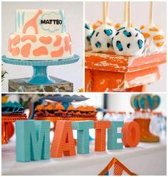 Giraffe themed baby shower via Kara's Party Ideas KarasPartyIdeas.com Cake, banners, invitation, recipes, and more! #giraffeparty #giraffebabyshower #giraffebirthdayparty #giraffecakeideas (2)