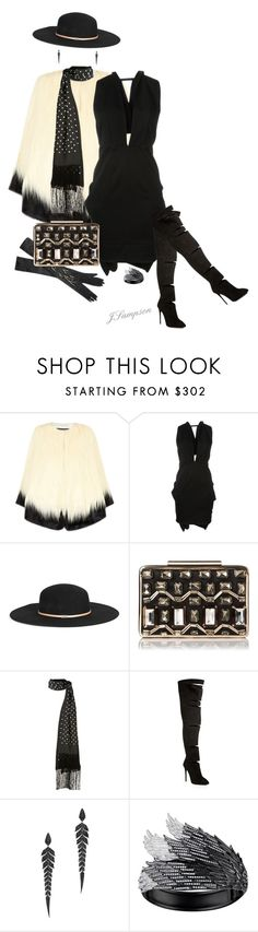 """""""'Annual Soiree With Your Besties'"""" by shadedlady ❤ liked on Polyvore featuring Unreal Fur, Moschino, Gucci, Lanvin, L.K.Bennett, Haider Ackermann, Giuseppe Zanotti, Stephen Webster, AS29 and contest"""