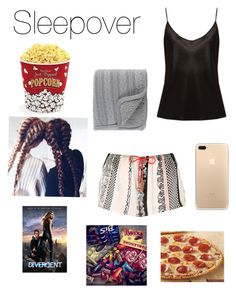 """Crashed sleepover🍫🍭🍿🍕"" by onedirection-fanfictionclothing ❤ liked on Polyvore featuring River Island, La Perla, Surya and West Bend"