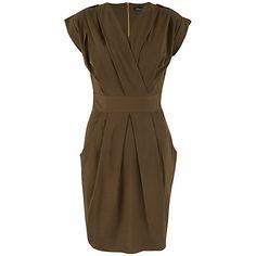 Buy Closet Military Tulip Dress, Khaki Online at johnlewis.com