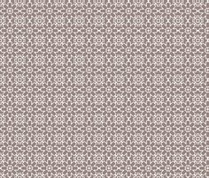 Brown Berry Star © Kristopher K 2009 fabric by kristopherk on Spoonflower - custom fabric
