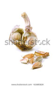 Garlic On White Background: stock fotografie (k okamžité úpravě) 610883828 Photography, Image, Fotografie, Photography Business, Photo Shoot, Fotografia, Photograph