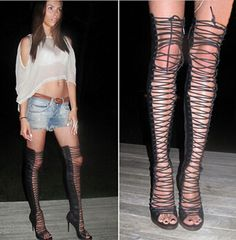 Cheap sandals rhinestone, Buy Quality boots plush directly from China boot bmw Suppliers: over the knee cut out thigh high long boots2015 hot selling peep toe over the knee cut out thigh high long b