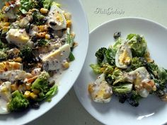 Ricotta, Sprouts, Potato Salad, Healthy Recipes, Healthy Food, Food And Drink, Potatoes, Chicken, Vegetables