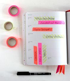 Den Kalender endlich schön ordentlich halten mit Terminnotizen auf Masking Tape. Durchstreichen und Chaos adé!