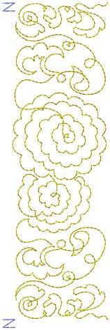 Design 5, border - continuous hoop (endless hoop) machine embroidery design