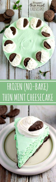10 minutes prep to have this gorgeous and DELICIOUS THIN MINT Cheesecake -- no baking required!