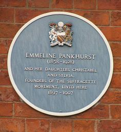 Pankhurst Centre's blue plaque, this was the birthplace of the suffragette movement in Manchester.