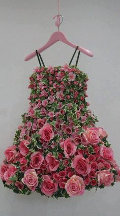 ♥ dress made of roses