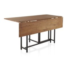 Origami Drop Leaf Rectangular Dining Table | Crate and Barrel
