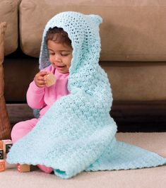 Crochet Hooded Baby Blanket at Joann.com