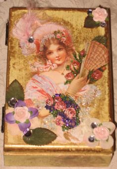 Altered Art Jewelry Box Victorian style Mixed media by Fannypippin,