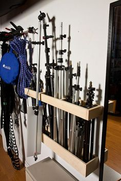 Light stand storage (Peter Steeper, via Flickr):