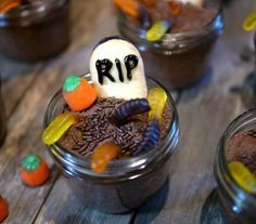 Graveyard Spooky Cakes:  Most of the ingredients are premade, so you don't need to be a talented cook to whip up this snack.