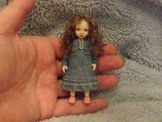 Miniature handmade MINI GIRL CHILD ooak ART DOLL HOUSE ARTIST DOLLHOUSE 1/12 | eBay