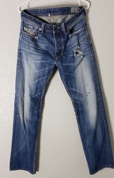 9ce2a49cf Diesel Industry Button Fly Distressed Jeans Made in Italy Mens Size 31 RN  93243 #Diesel