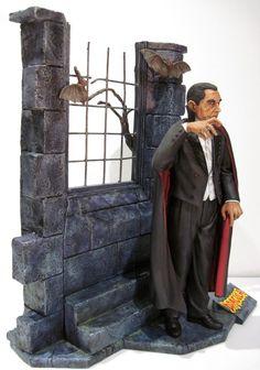 DRACULA Bela Lugosi AURORA TRIBUTE James Bama MODEL KIT Jeff Yagher PRO BUILD-UP | eBay