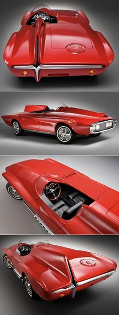 Vintage Cars 1960 Plymouth XNR Concept***Research for possible future project. - 1960 Plymouth XNR Concept***Research for possible future project. Luxury Sports Cars, Sport Cars, Weird Cars, Cool Cars, Design Autos, Auto Jeep, Automobile, Auto Retro, Matchbox Cars