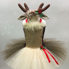A personal favorite from my Etsy shop https://www.etsy.com/listing/254734106/reindeer-tutu-dress-set-w-antler