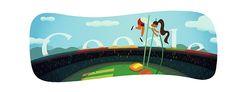#London2012 #Athletics #polevault #Olympics day 9 Google doodle @L2012Athletics