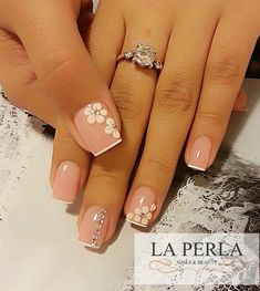 best ideas for nails french pedicure pink Fabulous Nails, Gorgeous Nails, Pretty Nails, Nail Manicure, Toe Nails, Manicure Ideas, Bridal Nail Art, Nagellack Trends, Trendy Nail Art