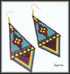 Boucles d'oreilles tissées à l'aiguille avec miyuki delicas 11 : beadwoven earrings with delicas beads 11