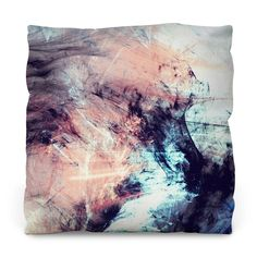 Marbled Glow Outdoor Throw Pillow