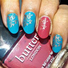 #butterlondon #pink #blue