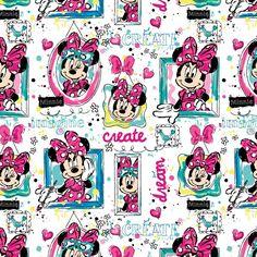 "1 yard Disney Minnie Mouse ""Windows""   Fabric #Springs"