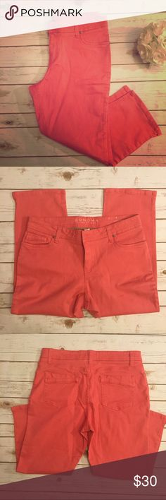 Coral Sonoma capris Good condition coral capris from Sonoma. The style is modern fit. Sonoma Pants Capris