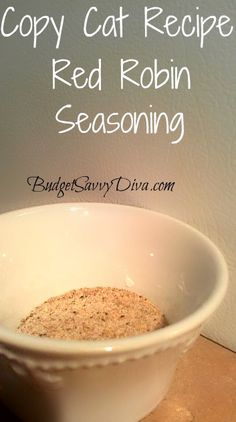 Copy Cat Recipe – Red Robin Seasoning