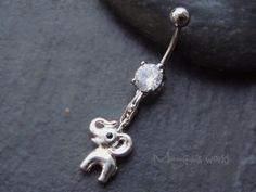 Cute Elephant Belly Button Jewelry Cute Elephant by mangosworld, $11.98