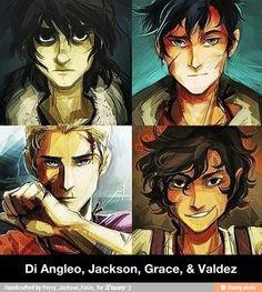 Annabeth Chase/Piper McLean, Percy Jackson/Nico di Angelo, Piper ...