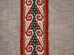 This motif was taken from a weaving from Calcha, Bolivia and is woven on a twill base.  backstrapweaving.wordpress.com/