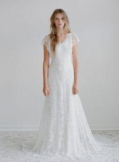 Robe de mariée, manches courtes, dentelle, Wedding dress Hummingbird