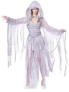 Gespenster Schönheit Geist Halloween Damenkostüm weiss
