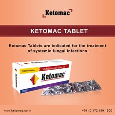 Ketoconazole Tablets should be used when other effective antifungal therapy is not available or tolerated and the potential benefits are considered to potential risks. Ketomac Tablets are indicated for the treatment of systemic fungal infections in patients
