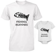 FATHER AND BABY SET T-SHIRT AND BODYSUIT SET DAD AND SON FISHING BUDDIES SET 3 #Unbranded Father And Baby, Baby Set, Sons, Fishing, Bodysuit, T Shirt, Clothes, Onesie, Supreme T Shirt