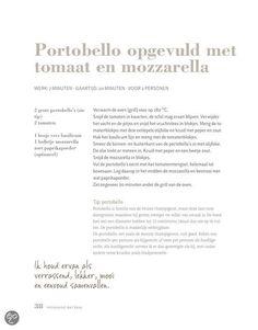 Portobello opgevuld met tomaat en mozzarella, Pascale Naessens