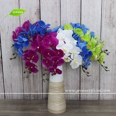 GNW FL-OK90-38-9-PU High quality Wholesale silk orchids for sale in shenzhen