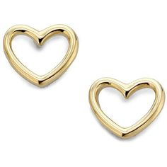 Marc by Marc Jacobs Love Heart Stud Earrings/Goldtone ($42) ❤ liked on Polyvore featuring jewelry, earrings, accessories, brincos, gold, apparel & accessories, heart shaped jewelry, pandora jewelry, stud earrings and diamond earrings