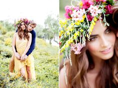 Love the overgrown look of this floral crown...it's gorgeous! From http://greylikesweddings.com/the-archive/engagements/chris-and-kristen-photography/  Photo Credit: http://chrisandkristenphotography.com/  Florals by http://thevinesleaf.com/