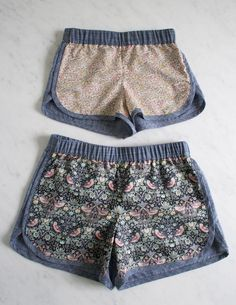 I didn't have to buy shorts!  here is a great pattern from the purl bee: Corinne's Thread: City Gym Shorts for All Ages