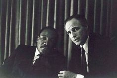 Martin Luther King and Marlon Brando . . .