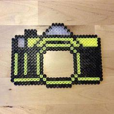 Camera photo frame hama beads by michelleparlar